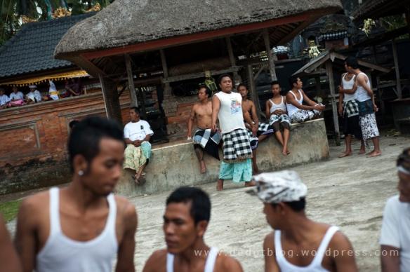 Susana pelataran Pura Panti, sebelum prosesi acara Dewa Masraman.