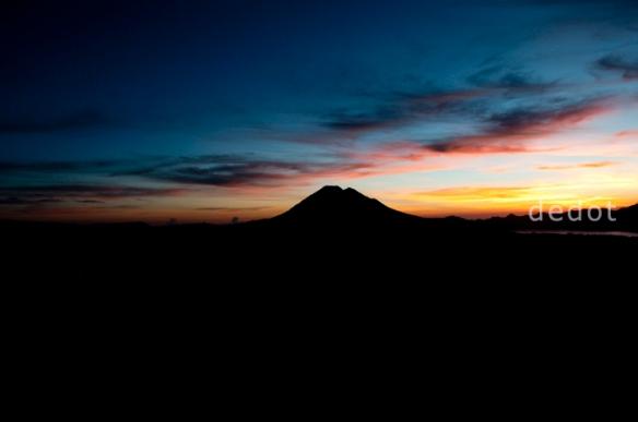 sunrise in batur, kintamani, bali